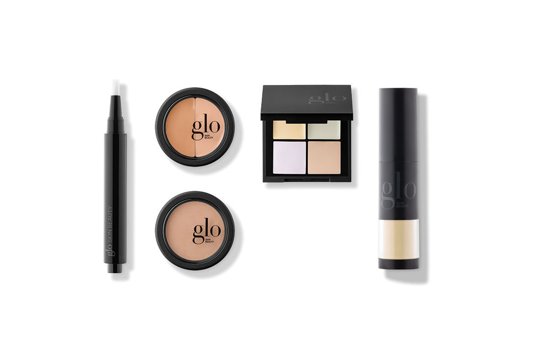Liquid Bright Concealer, Under Eye Concealer, Oil Free Camouflage, Corrective Camouflage Kit & Redness Relief Powder